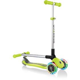 Globber Primo Foldable Lights Roller mit Batterielosen LED Rollen Kinder green